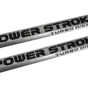 2018 FORD F250 SUPER DUTY POWER STROKE DOOR EMBLEM SET Image